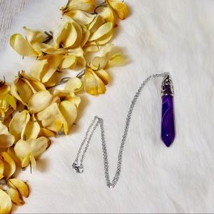Jewelry - 5/$25 Marbled Purple Stone Necklace